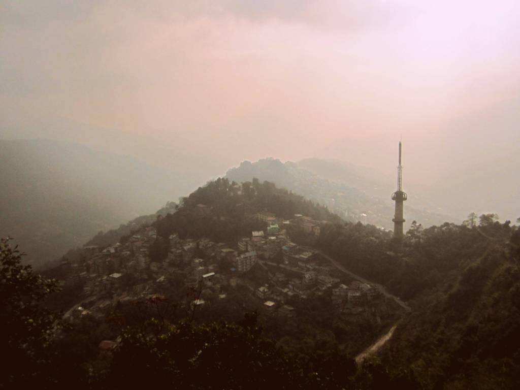 Bird's eye view of Gangtok